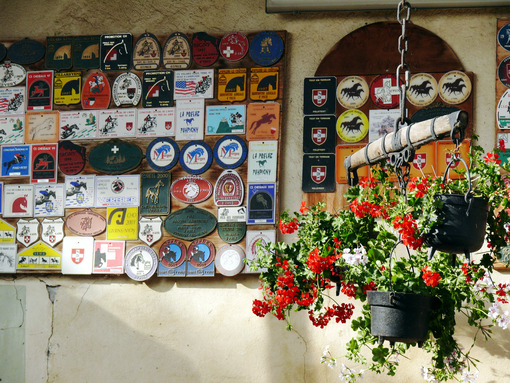 Vufflens le Château. Switzerland. 08/03/2009. Trophies of horse - MyVideoimage.com