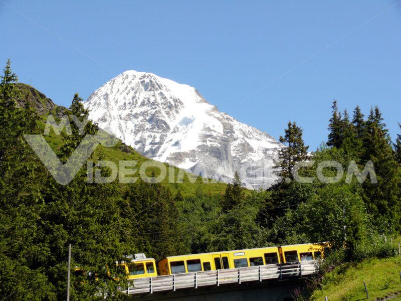 Wengen, Switzerland. 08/04/2009. Rack railway leading to the Jungfraujoch. - MyVideoimage.com
