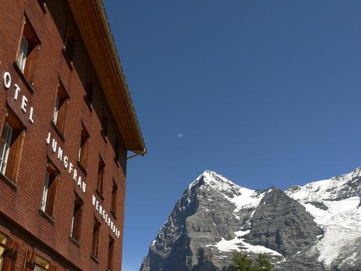 Wengen, Switzerland. 08/05/2009. Hotel Jungfrau Wengernalp. Foto Svizzera. Switzerland photo