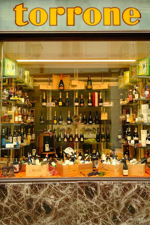 Wine shop in Cremona. Cremona wine and nougat shop. Stock photos. - MyVideoimage.com | Foto stock & Video footage