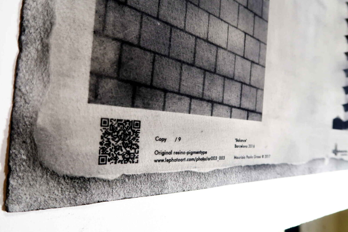 Photo art Barcelona. Frank Gehry building. Detail QR Code