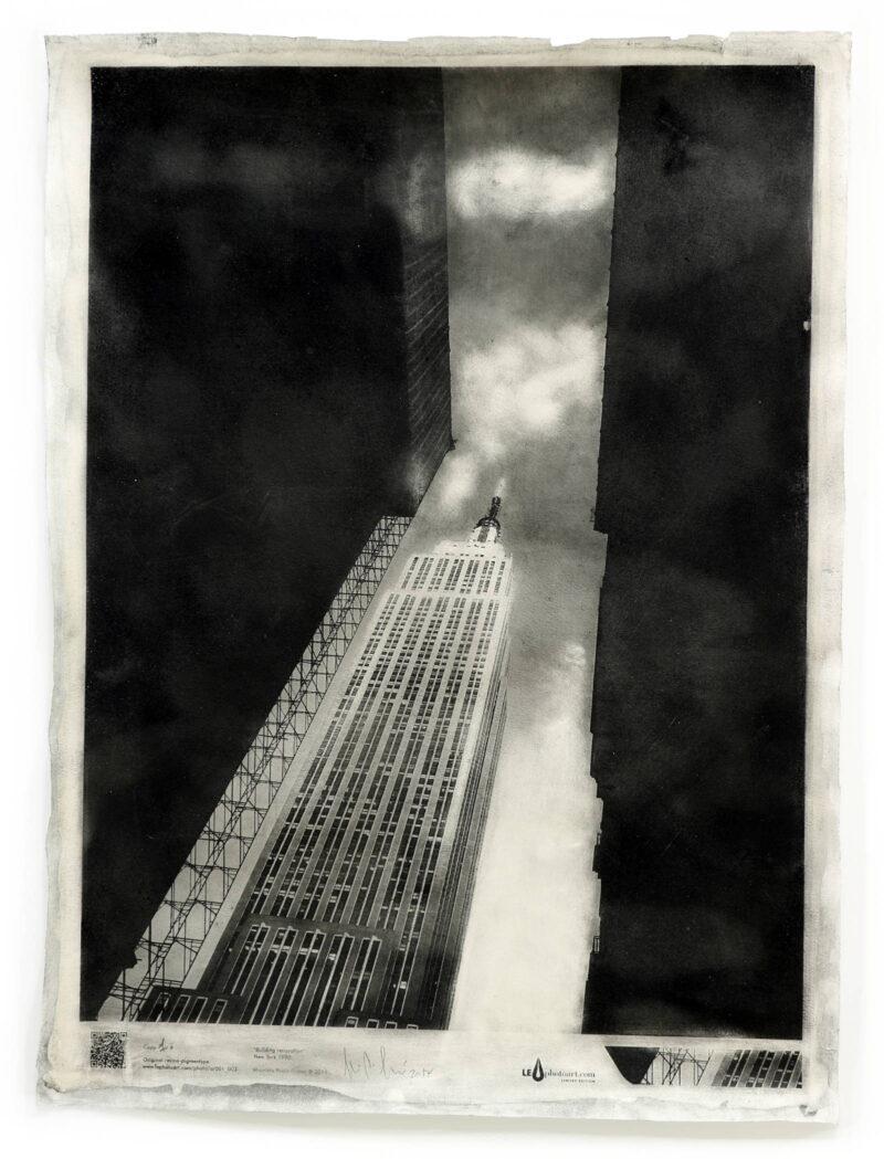 Empire state building. Art photo New York.
